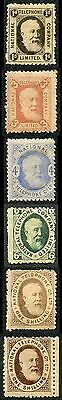 QV Telephone Stamps 1d to 1/- m/mint