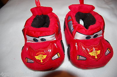 Toddler Boys Slippers LIGHTNING McQUEEN Disney Cars S 5-6 M 7-8 L 9-10 XL 11-12