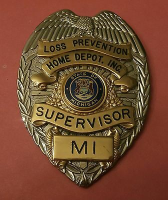 Home Depot Supervisor Shield Loss Prevention Store Detective State of  Michigan