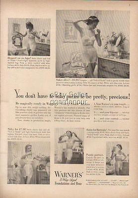 1950 Warner's Panties Bra Girdle~Viel of Youth Fabric~Sexy Women Photo Ad