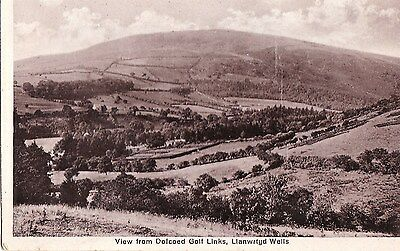 j wales welsh postcard dolcoed golf links powys