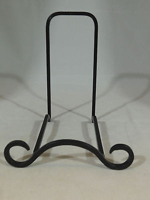 "One Very Nice Medium Sized 6.75"" x 6"" x 5 1/2"" Black Iron Metal Display Stand!"