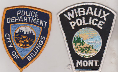 Wibaux & City of Billings Montana Police patches