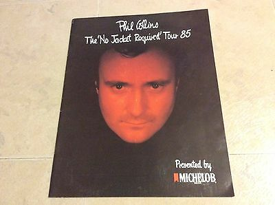 PHIL COLLINS NO JACKET REQUIRED TOUR Booklet 1985