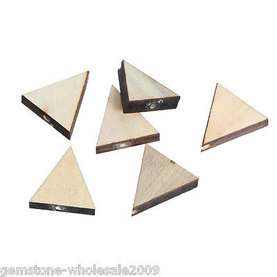 Wholesale 30PCs Natural Colour Triangle Shape Wood Beads Wooden Beads 20x19mm GW