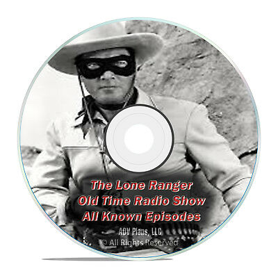 THE LONE RANGER, 2,357 ALL KNOWN EPISODES, Old Time Radio Westens DVD F77