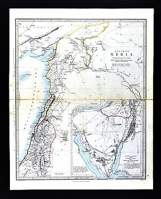 1866 SDUK Map Ancient Syria Palestine Arabia Phoenicia Jerusalem Antioch Israel