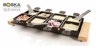 Boska Life XL Partyclette Raclette Barbelette Cheese Melt Set for 8 People