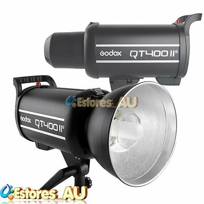 【AU】Godox QT400IIM 400W 2.4G Wireless HSS 1/8000s Studio Strobe Flash Light 220V