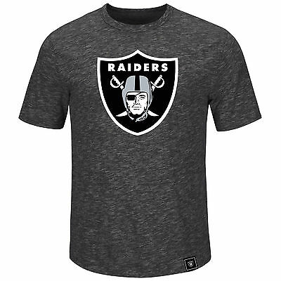 NFL Football T-Shirt OAKLAND RAIDERS Logo Hyper Slub von Majestic