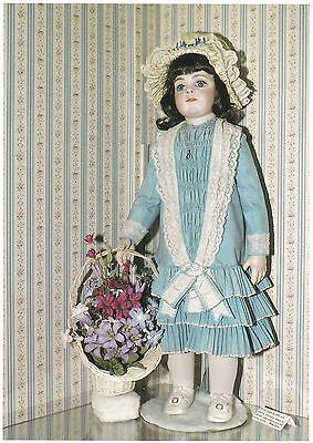 MELINDA ANN FRENCH BRU DOLL C. 1860 - ENCHANTED WORLD DOLL MUSEUM Postcard!