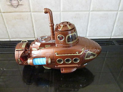 STEAMPUNK model sub submarine nautilus lights octopus MAD SCIENTIST LABORATORY