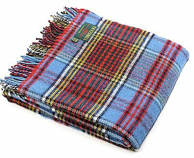 PURE NEW WOOL PICNIC BLANKET Anderson TARTAN THROW TRAVEL CAR RUG British made