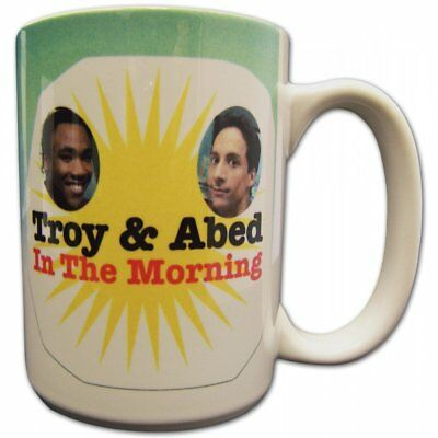 NBC TV Show Series Community Troy And & Abed In the Morning Coffee Drinking Mug