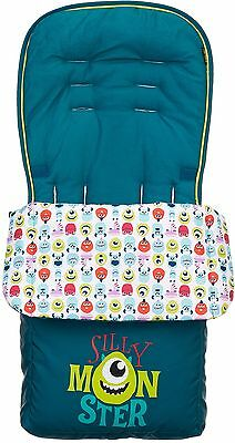Obaby FOOTMUFF DISNEY MONSTERS INC. Cosy Toes Stroller/Pram Accessory BN