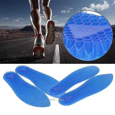 1 Pair Silicone Gel Heel Cushion Foot Care Shoe Insert Pad Insoles for Men Women