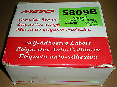 Genuine Original Oem Meto 5809-B 6-435-021 N0021 White Blank 21000 Pcs New Box