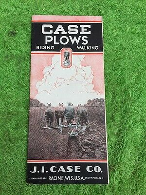 Vintage J. I. Case Walking And Riding Horse Drawn Plows Sales Brochure