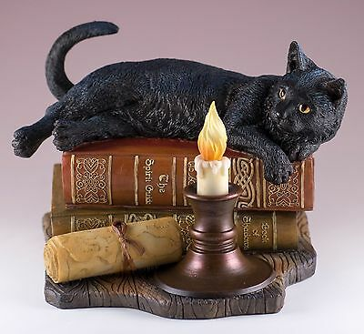 Black Cat Figurine The Witching Hour by Lisa Parker Polystone New In Box