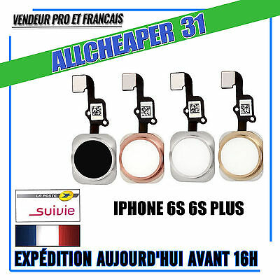 Bouton home Iphone 6S 6S PLUS Noir Argent Or Or Rose Bouton principal