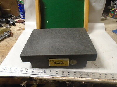 "MACHINIST MILL LATHE Machinist 9"" by 12"" DoAll Granite Surface Plate"