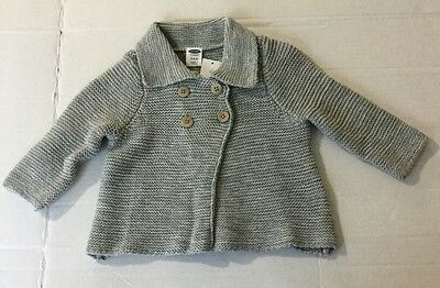 New Girls Old Navy Sweater Cardigan Gray Size 3-6 Months