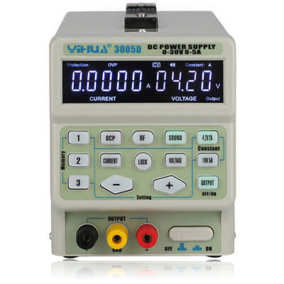 3005D 30V 5A Digital Precision Variable Adjustable DC Power Supply Current