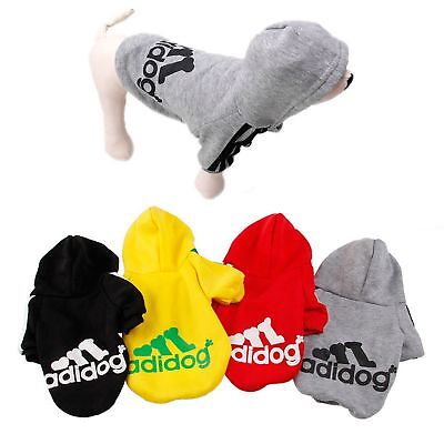 Soft Winter Warm Casual Adidog Pet Small Dog Clothes Hoodie Coat Jacket Clothing