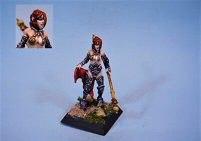 Confrontation painted miniature Female Slave Warrior