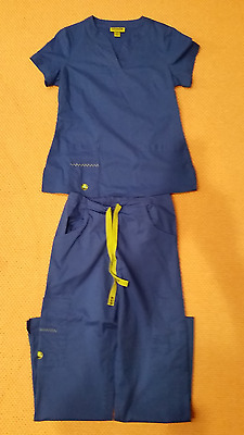 CROCS size XS Women's Scrubs Top and Bottom Blue set
