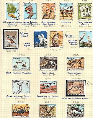 BOTSWANA 1982 BIRDS Definitive Stamps THEMATIC Collection MINT USED Ref:QE528