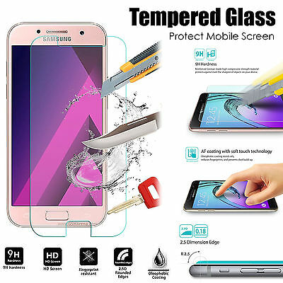 100% Genuine Tempered Glass Film Screen Protector For Samsung Galaxy J3 J5 A3 A5