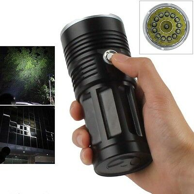 38000LM 14 x CREE XM-L T6 LED SKYRAY Hunting Torch Lamp 4 x 18650 Flashlight NEW