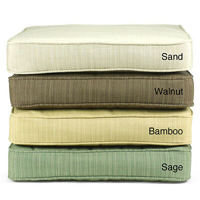 Indoor/ Outdoor Textured Neutral 60-inch Bench Cushion with Sunbrella Fabric