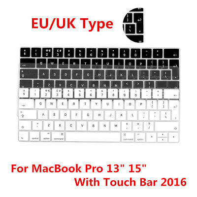 "EU/UK Type Keyboard Cover Skin For Apple MacBook Pro 13"" 15"" With Touch Bar 2016"