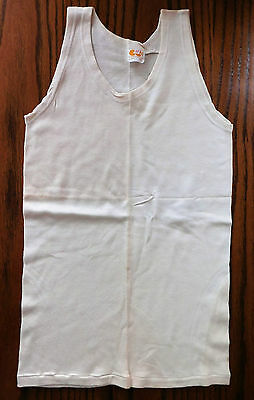 CC41 childs sleeveless vest Vintage 1940s UNUSED shop soiled utility underwear