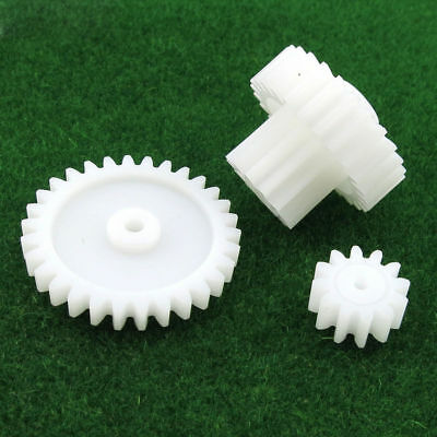 M1 Plastic Gear 12/30 Teeth 2613 Double Layer Reduction Gear  Motor Toy DIY