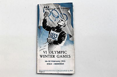20924 SAS Programm VI Olympic Winter Games Oslo Norway skyway to the olympics