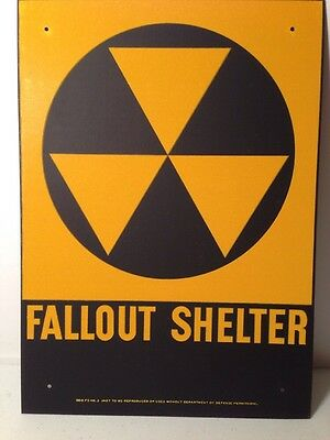 New Old Stock Vintage Fallout Shelter Sign 1960's-70's NOT a Reproduction