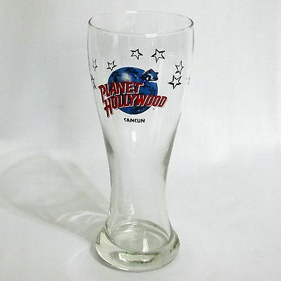 Planet Hollywood Cancun Beer Glass Pilsner 16 Ounce Drinkware Barware