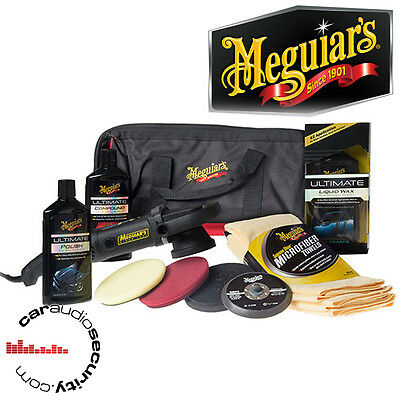 Meguiars MT320 Deluxe Polisher Kit Pads Extras 3000-7500 OPM Buff Pad Polish Wax
