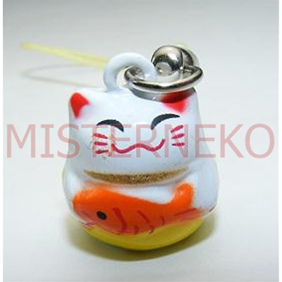 Portafortuna Gatto con pesce - Lucky Cat Bell
