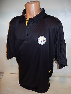 6bc1df5c0b6 81009 NFL PITTSBURGH STEELERS PLUS SIZE Sideline Performance Polo Jersey  Shirt