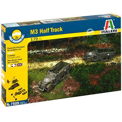 ITALERI M3 Half Truck 7509 1:72 Military Fast Assembly Model Kit
