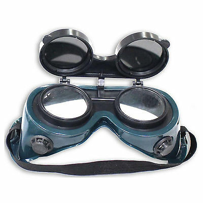 HAWK EY-W - Ventilated Welding Goggles With Flip-up Extra Dark Lenses Green