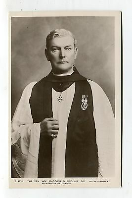 William MacDonald Sinclair - Archdeacon of London - old real photo postcard