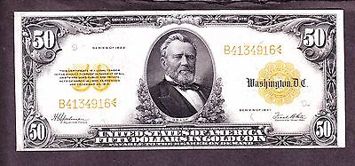 US 1922 $50 Gold Certificate FR 1200 VF-XF (-916)