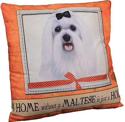 Maltese Pillow 16×16 Polyester Puppy Cut
