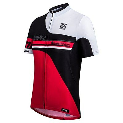 AIRFORM MESH CYCLING Jersey in Black White. Made in Italy by Santini ... a34a830dd