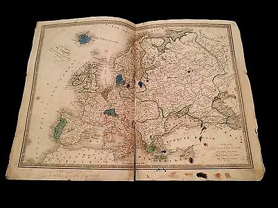 OLD MAP OF EUROPE  1800s
